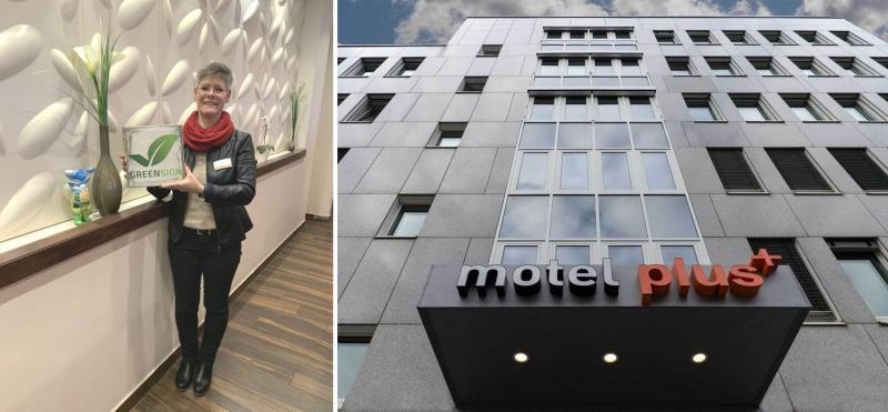 Katrin Kuttner - Hoteldirektorin vom Motel Plus Berlin Neukölln bei der Rezertifizierung