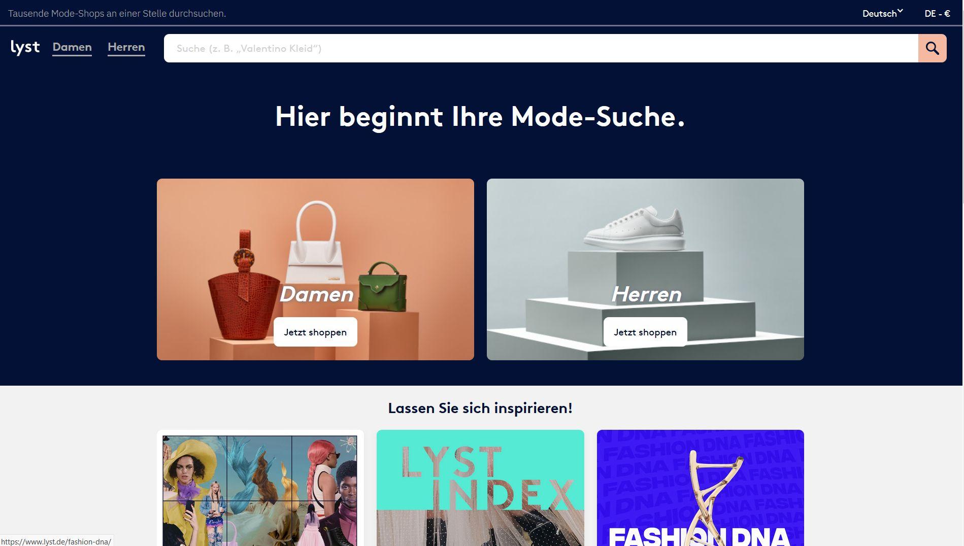 Profi-Suchmaschine für Fashionistas
