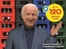 Bildmaterial: Netto Marken-Discount Mehrweg-Kampagne Trapattoni