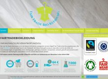 Screenshot Website Fashion Fairtrade