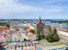 Blick auf die Rostocker Innenstadt (c) Rostock Marketing / Sebastian Krauleidis