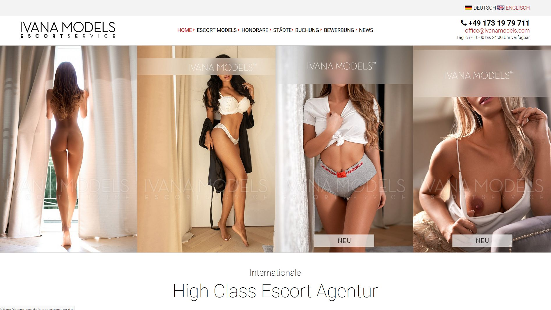 Screenshot Website Ivana Models