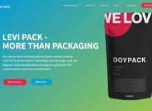 Screenshot Website Levi pack