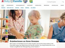 Screenshot Website Baby und Familie