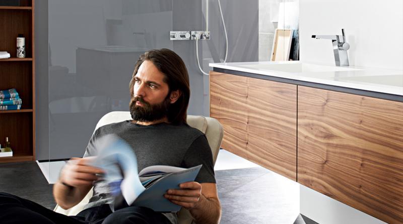 Ideal für architekturorientierte Designliebhaber die HANSALOFT. Foto Hansa Armaturen GmbH
