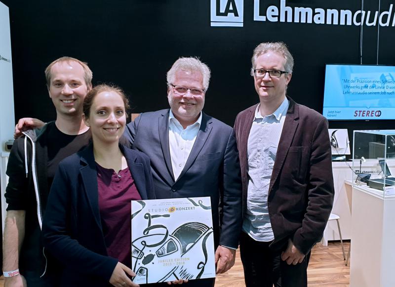Michael Thumm, Bettina Bertók, Norbert Lehmann und Philipp Heck (v.l.n.r.) - das Team der Analogtage