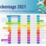 Mit schlauer Planung und Einsatz von Feiertagen Urlaub 2021 verdoppeln