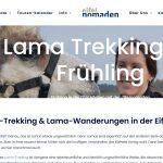 In die Schönecker Schweiz zur Lama-Bärlauchwanderung