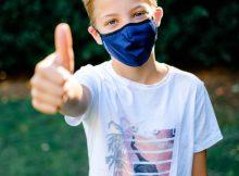 Kind mit Livinguard Maske Pro