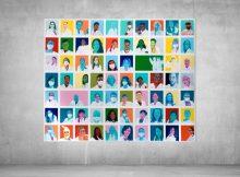 'Colours of Science': Hamburger Urban Pop Art Künstler Moritz Etorena kreiert zusammen mit Starlab Kunstwerk aus Gesichtern der Forschungswelt