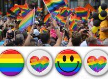 Neue Regenbogen-Buttons